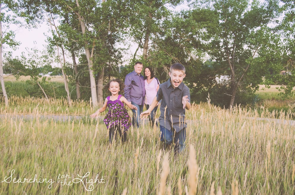 Denver photographer shares photos from a denver family photography session at the lakewood heritage center at sunset
