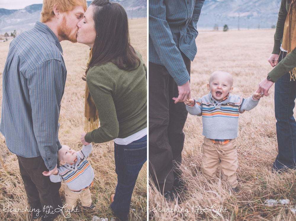 Denver photographer photographs family of three as baby turns one