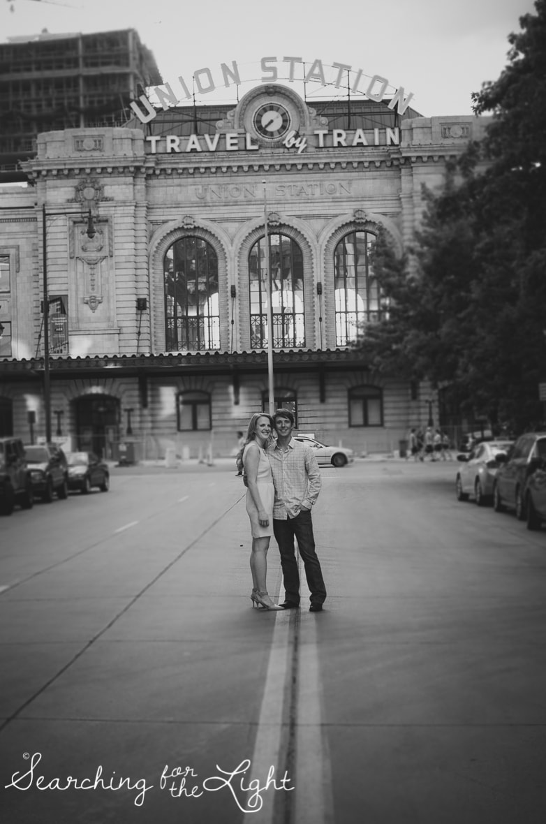 Denver engagement photos, downtown engagement photos, urban engagement photos by denver wedding photographer
