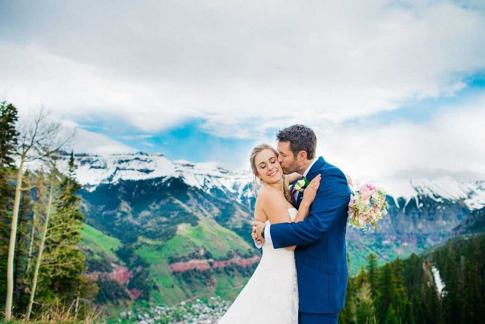 This mountain wedding was from June , which is actually one of the more affordable times to be in Telluride, right before their blue grass festival and before summer season kicks off.