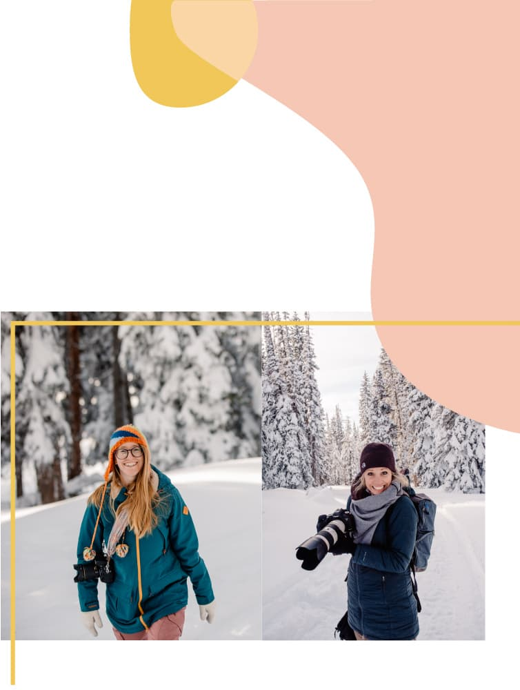 brittany and emmy in snow