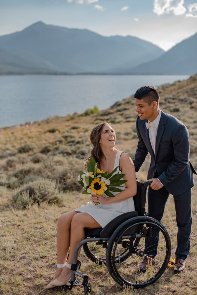 bride in a wheel chair
