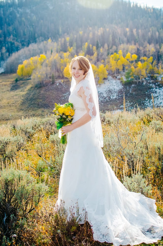 bride in the fall