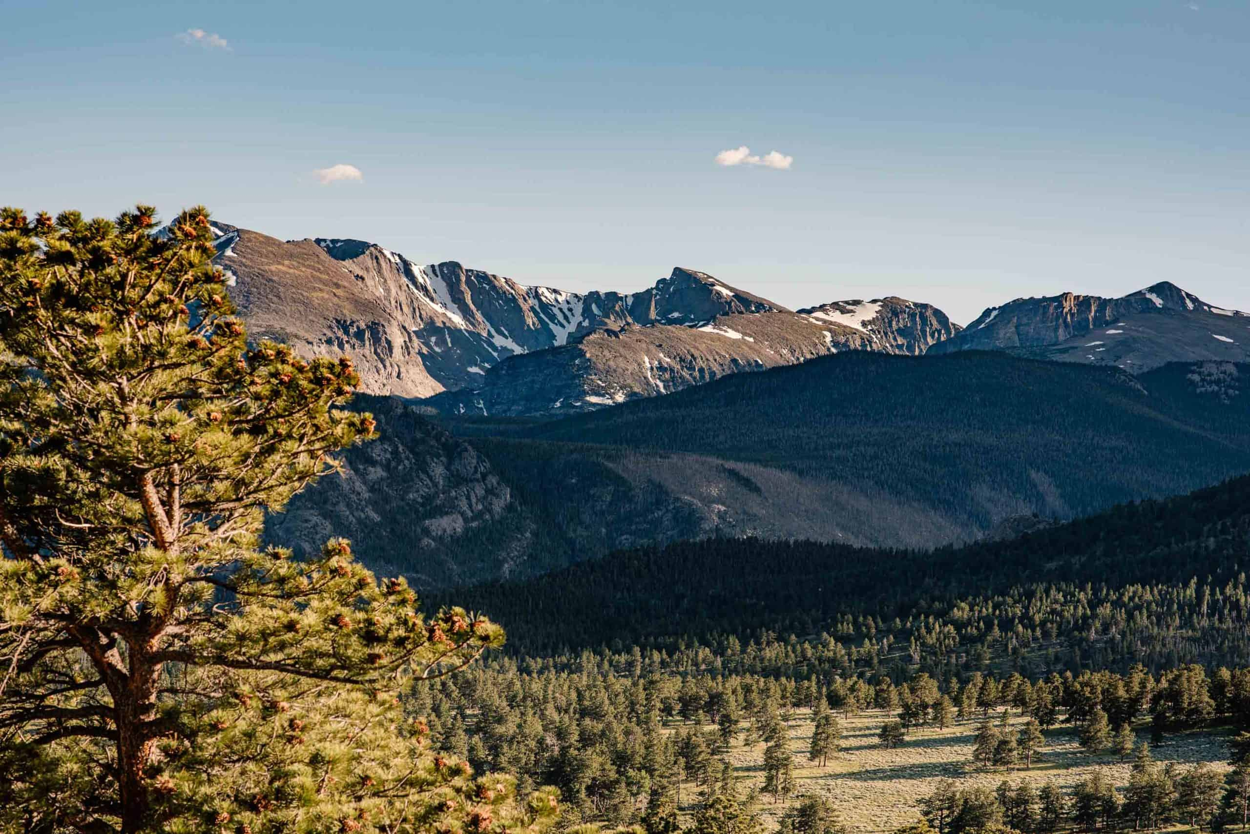 rocky mountain national park in the summer dream lake hike