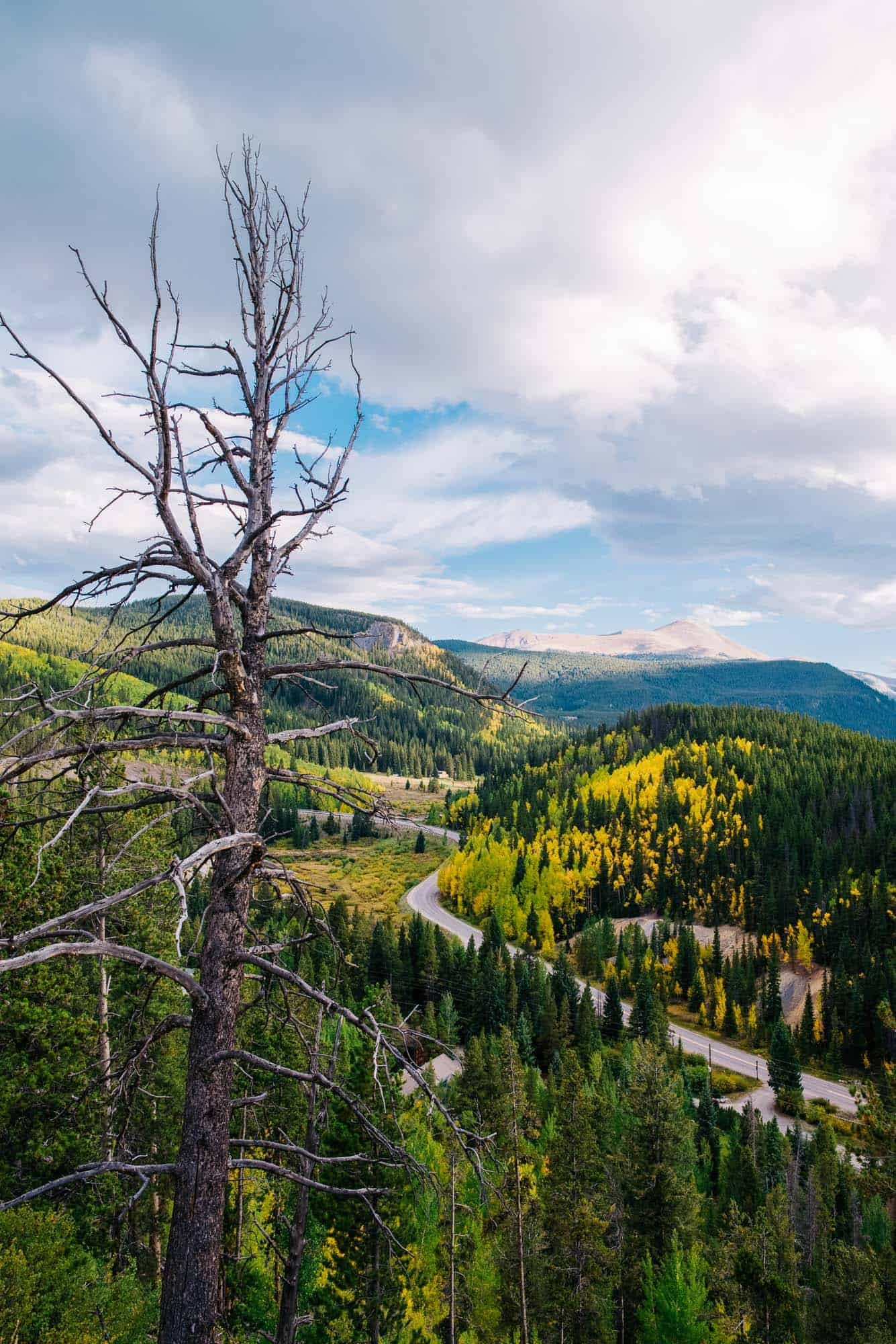 view of a Breckenridge elopement locations mountain pass