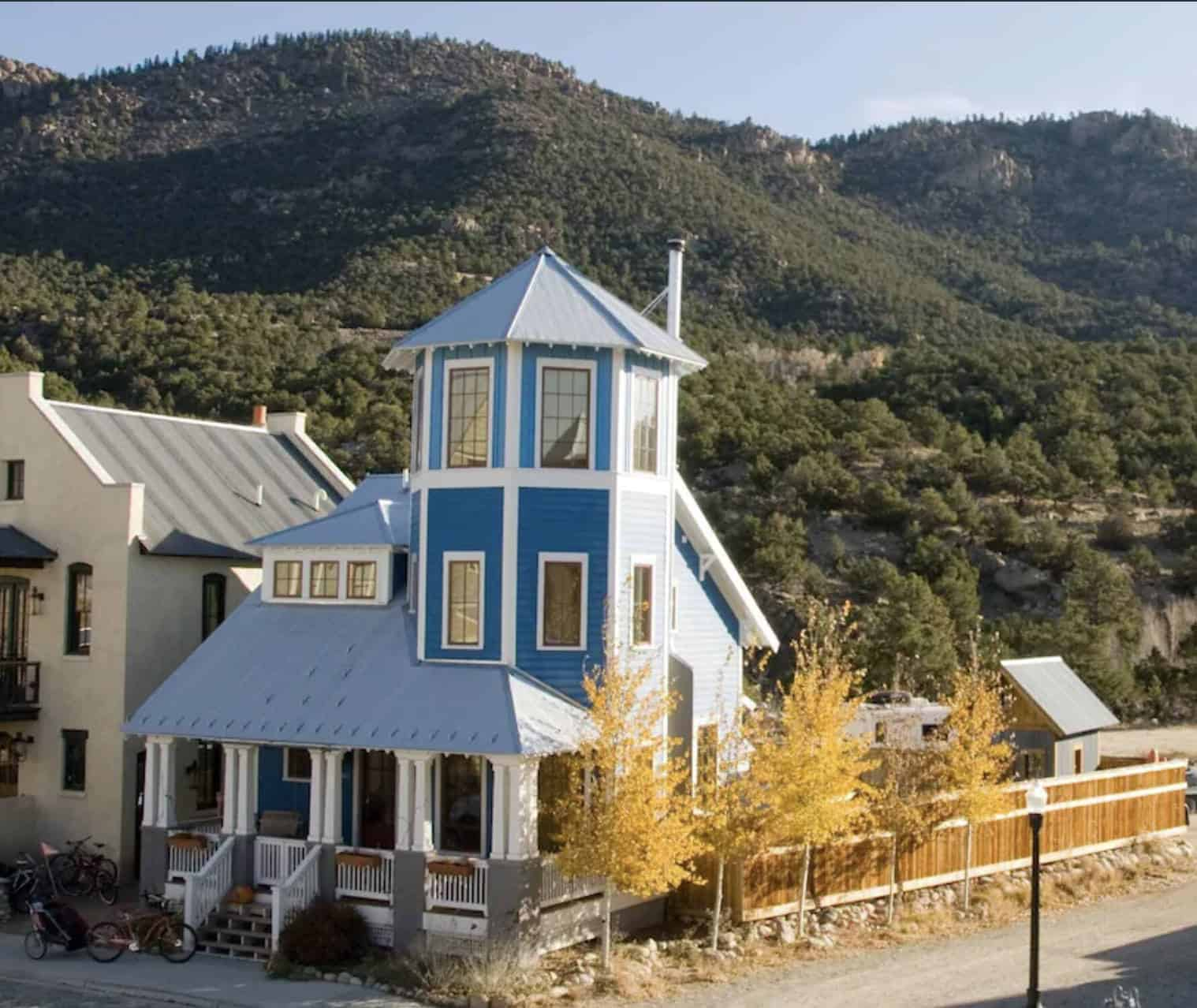 airbnb wedding venues colorado blue tower house set in the mountains