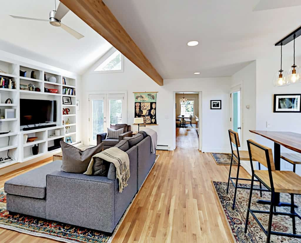 airbnb wedding venues colorado view of a modern ranch home interior with cozy but stylish furniture