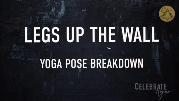 """legs up the wall"" yoga pose breakdown view of a outdoor wall with birds flying by"