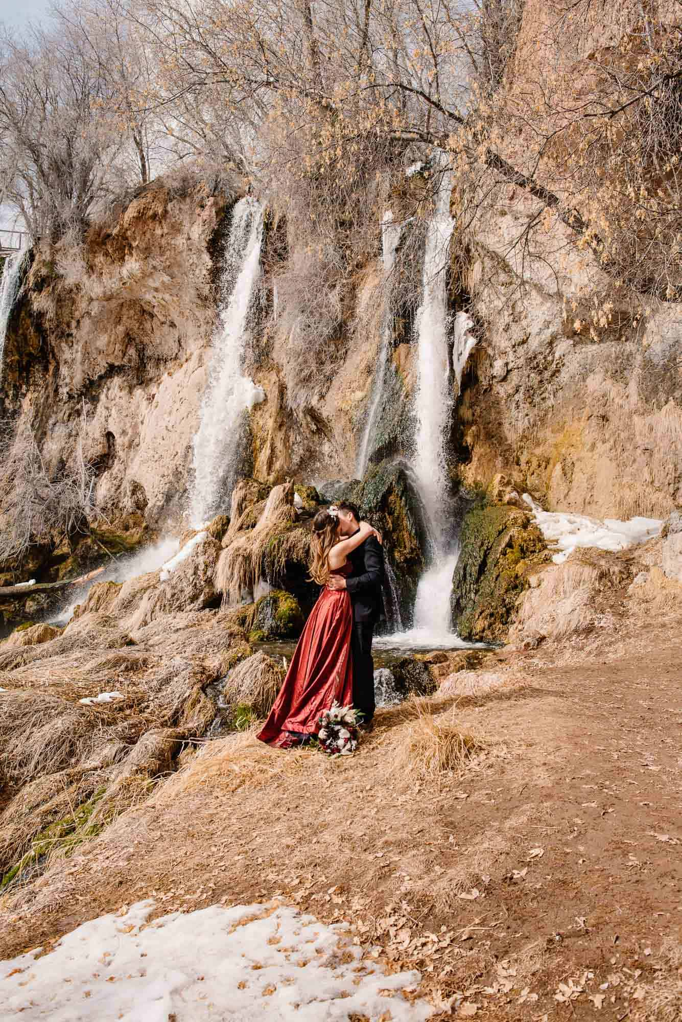 "couple considering ""is eloping selfish for Christians"" decided it wasn't and eloped by waterfall"