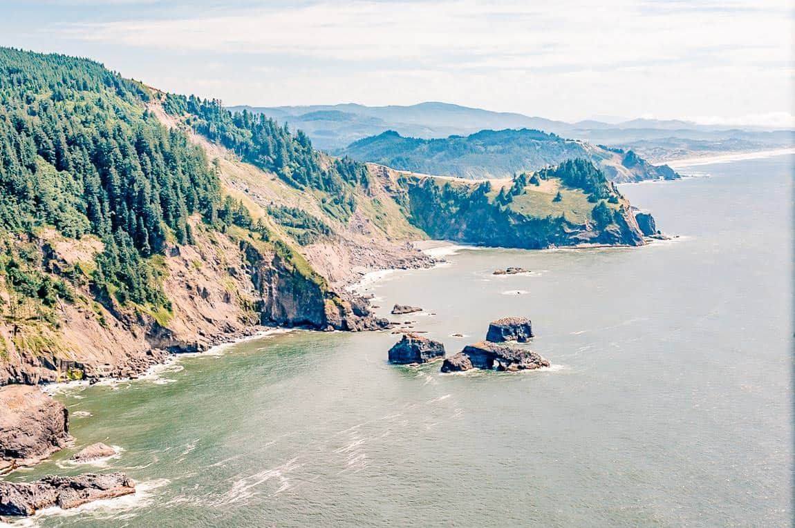 view of the oregon coast from this VRBO wedding venues in Oregon