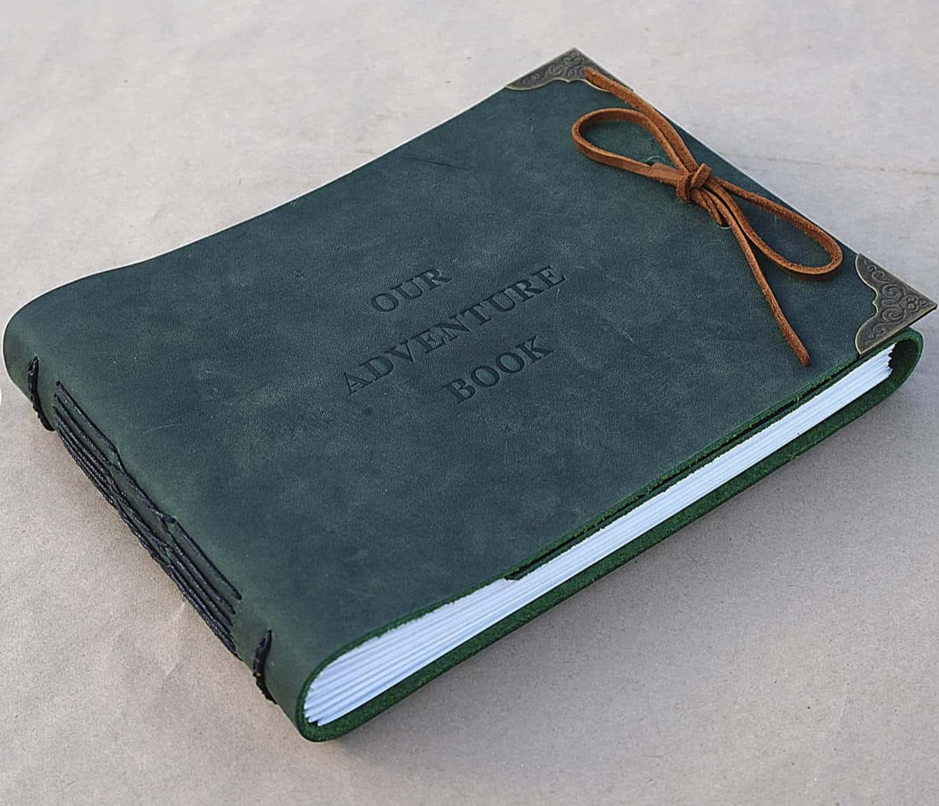 Our adventure book by etsy artist Janneyleather